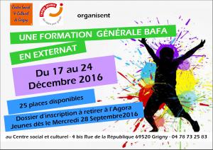 BAFA 2016: FORMATION GENERALE EN EXTERNAT