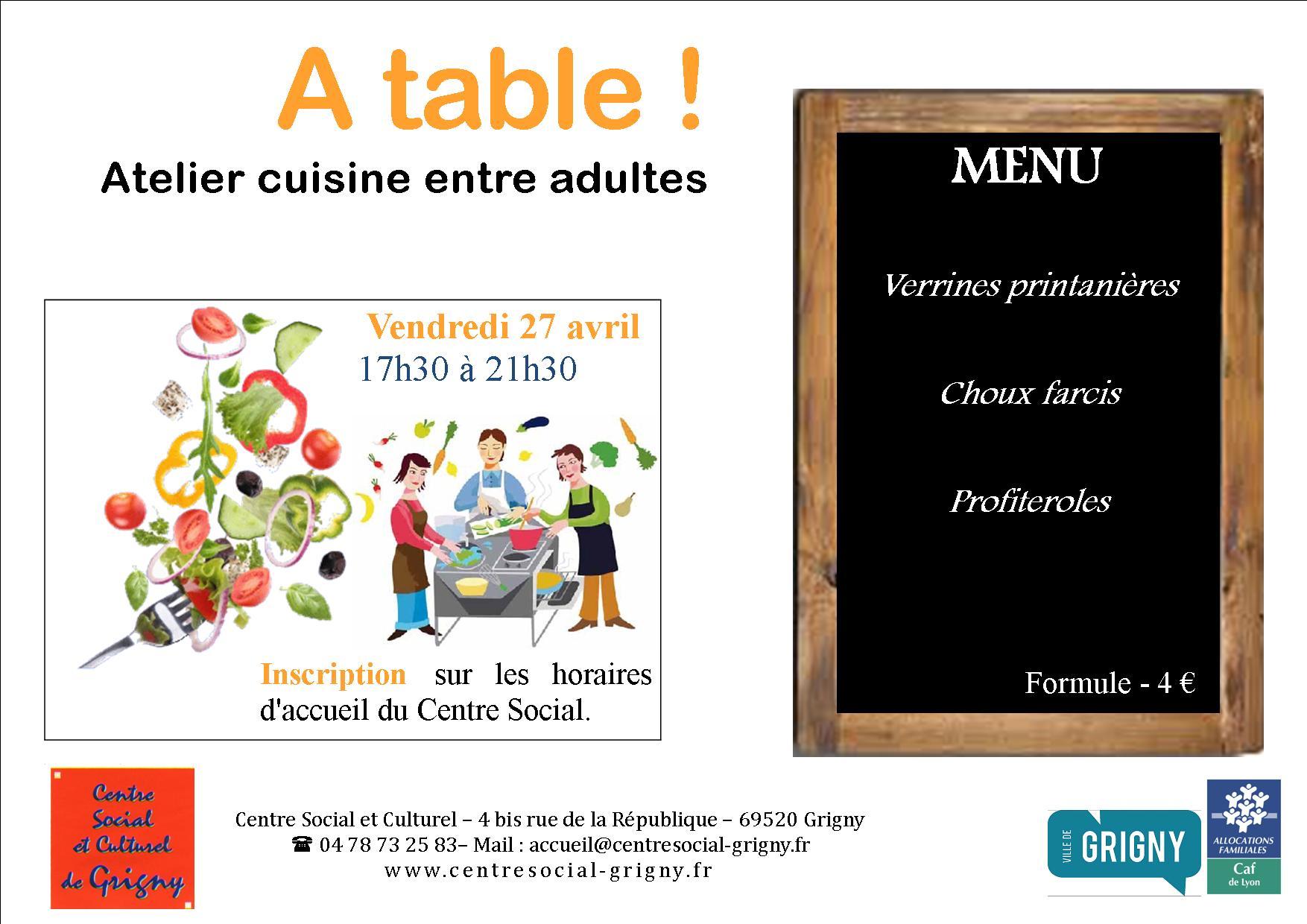 Atelier Cuisine / Adultes