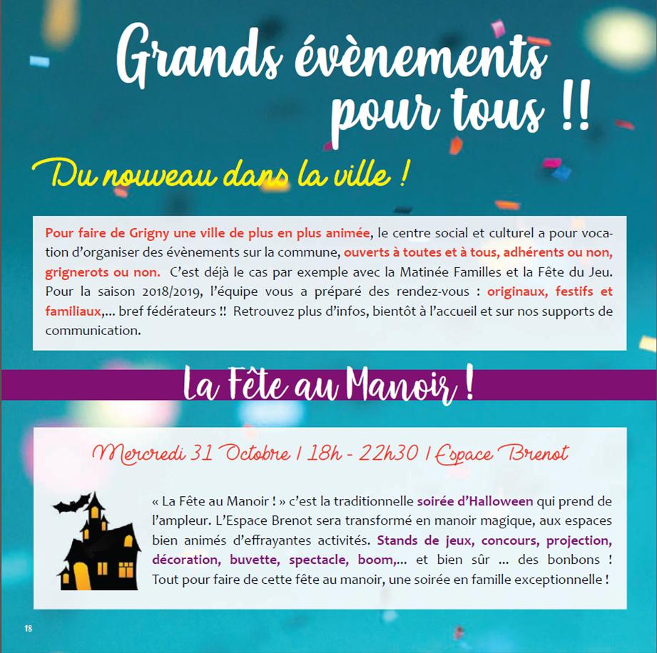 La Fête au Manoir ! @ Espace Brenot