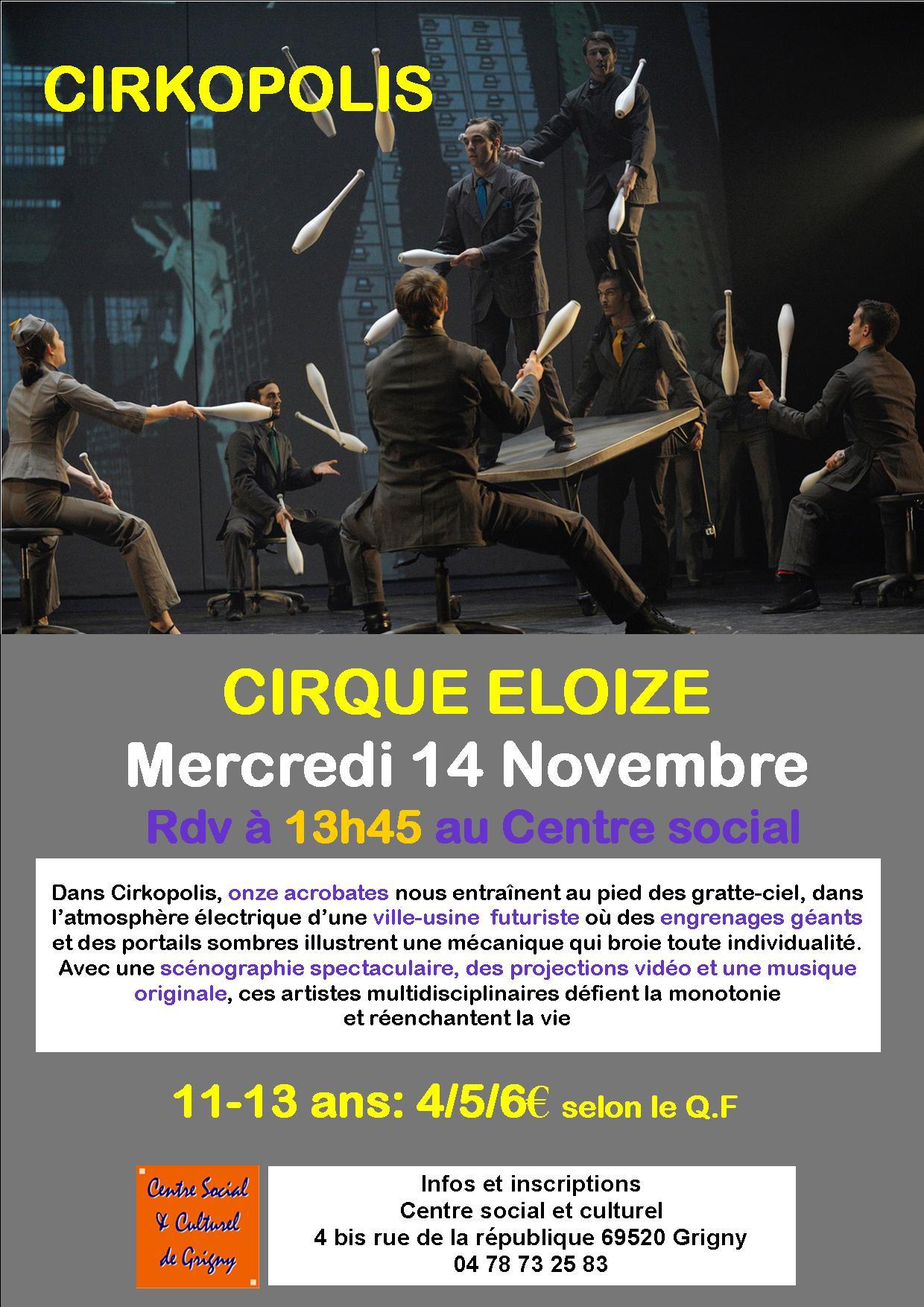 Sortie Cirque Eloize
