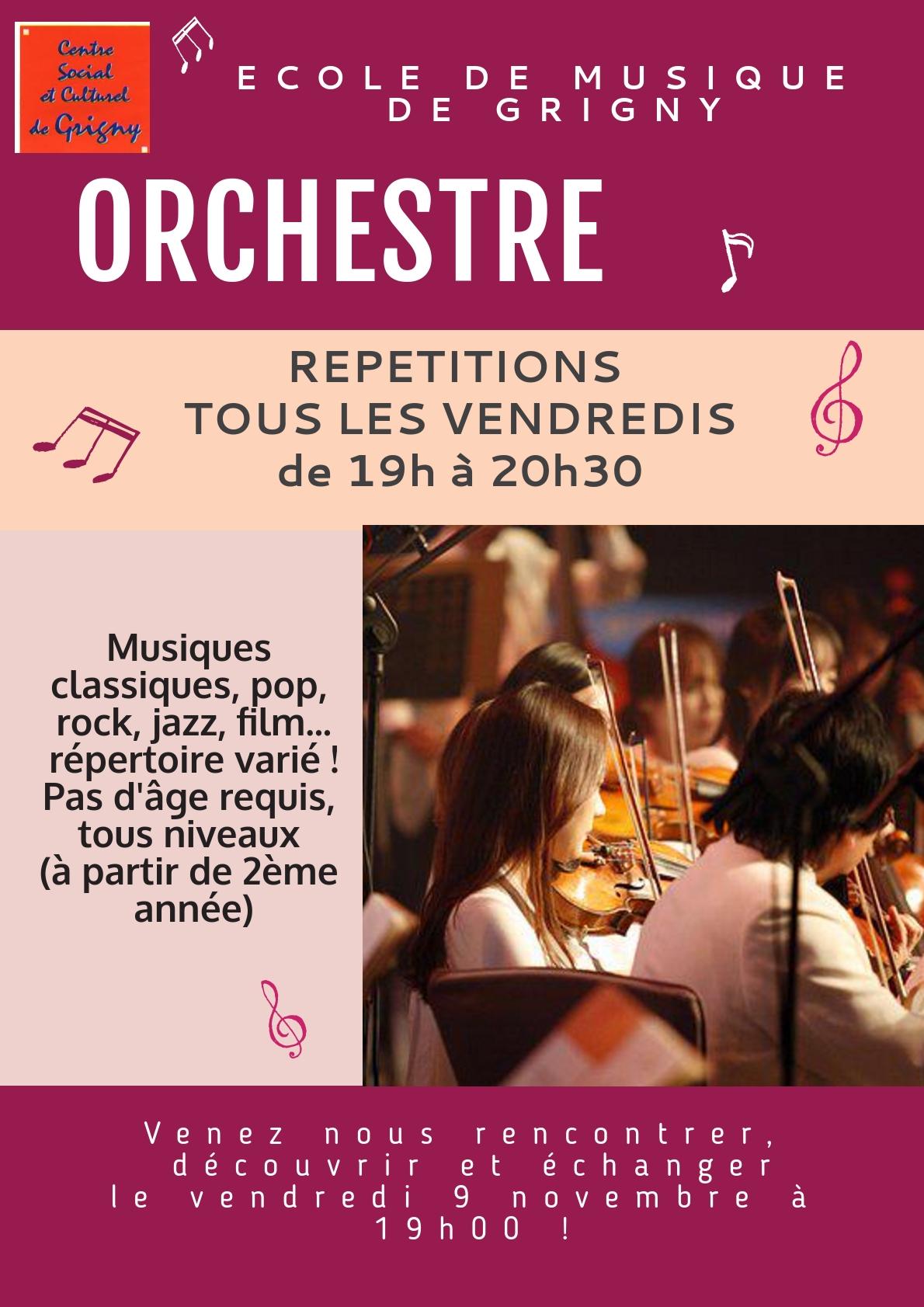 Lancement 2018 de l'orchestre