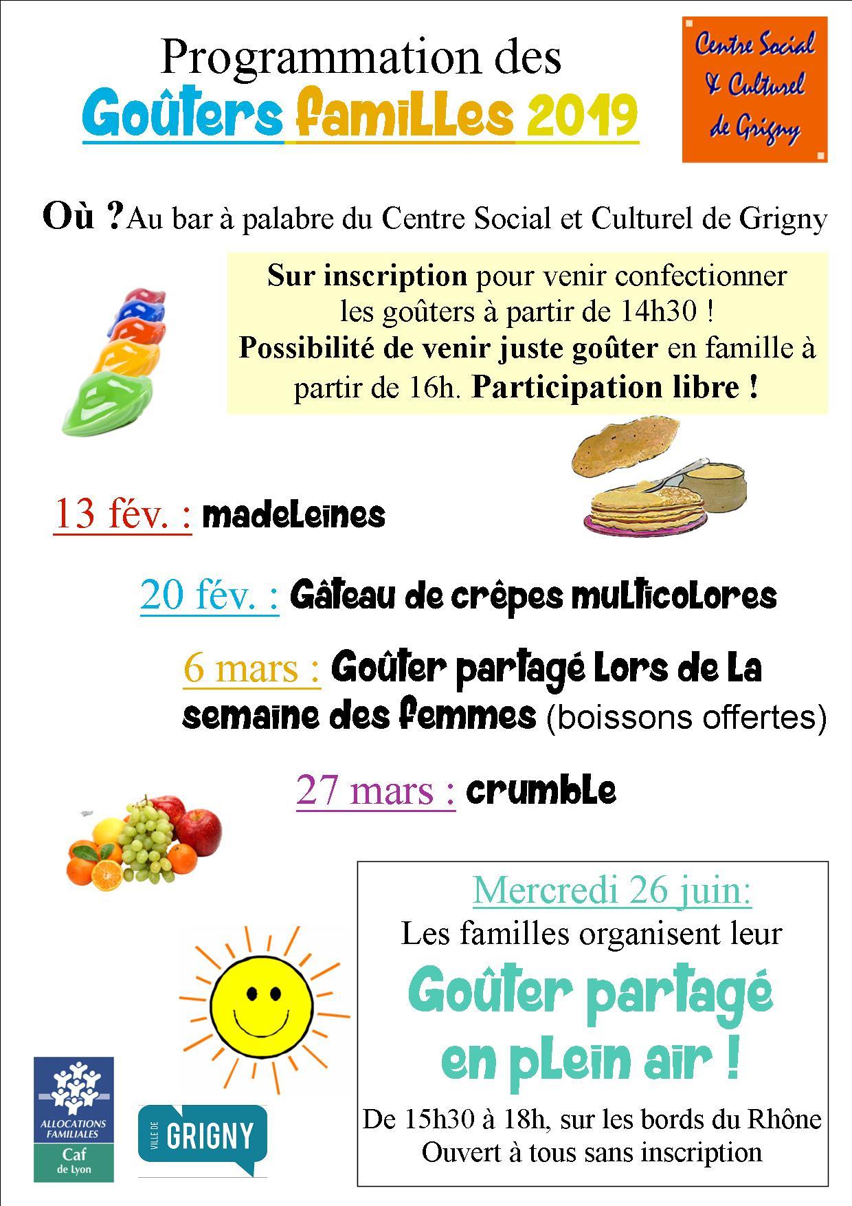 Goûter Familles / Gâteau de crêpes