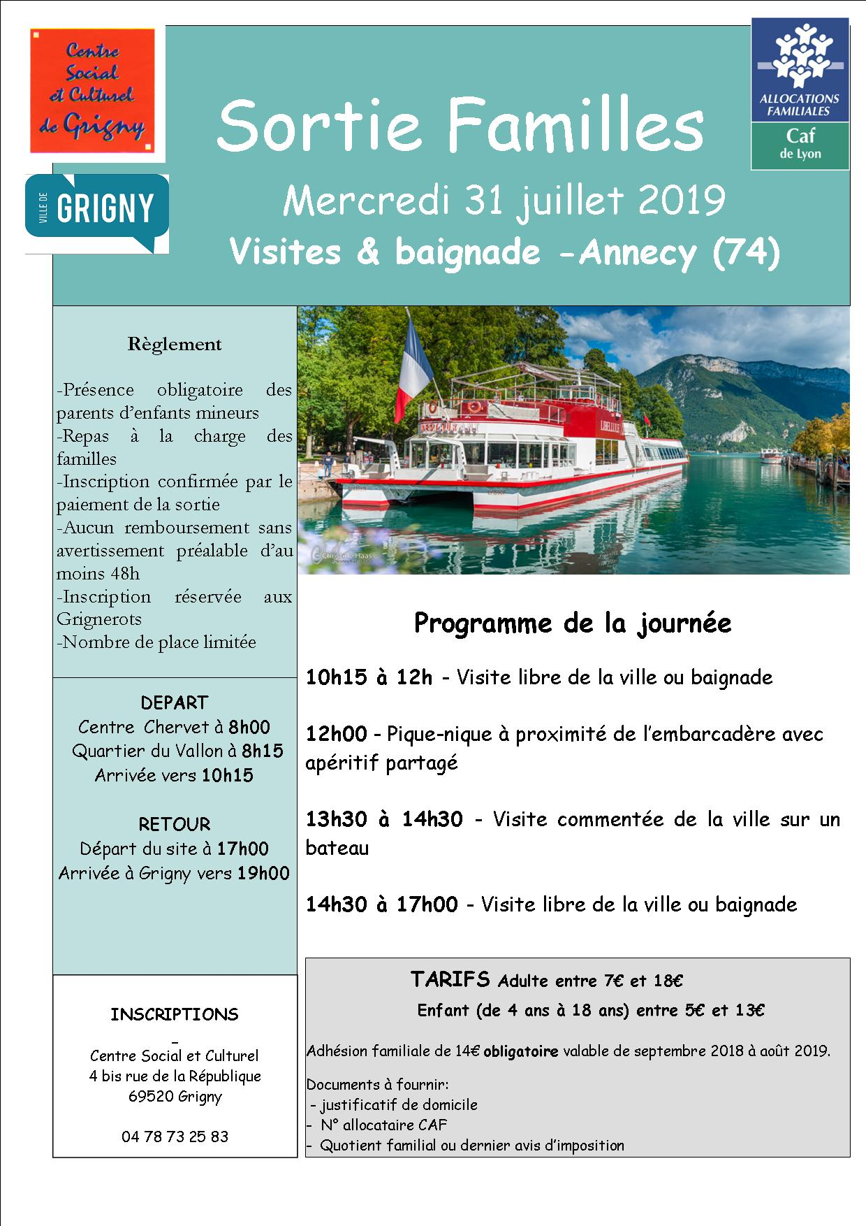 Annecy / sortie Familles