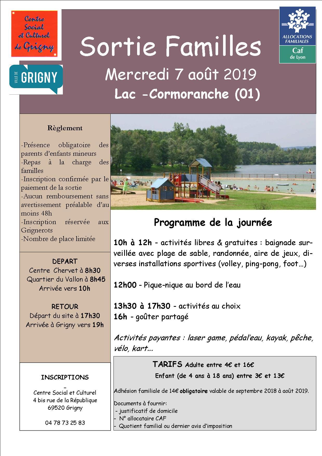 Lac de Cormoranche / Sortie Familles